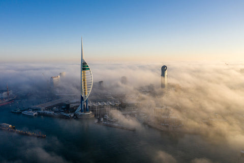 'City in the Clouds' Aerial Drone Photo Print