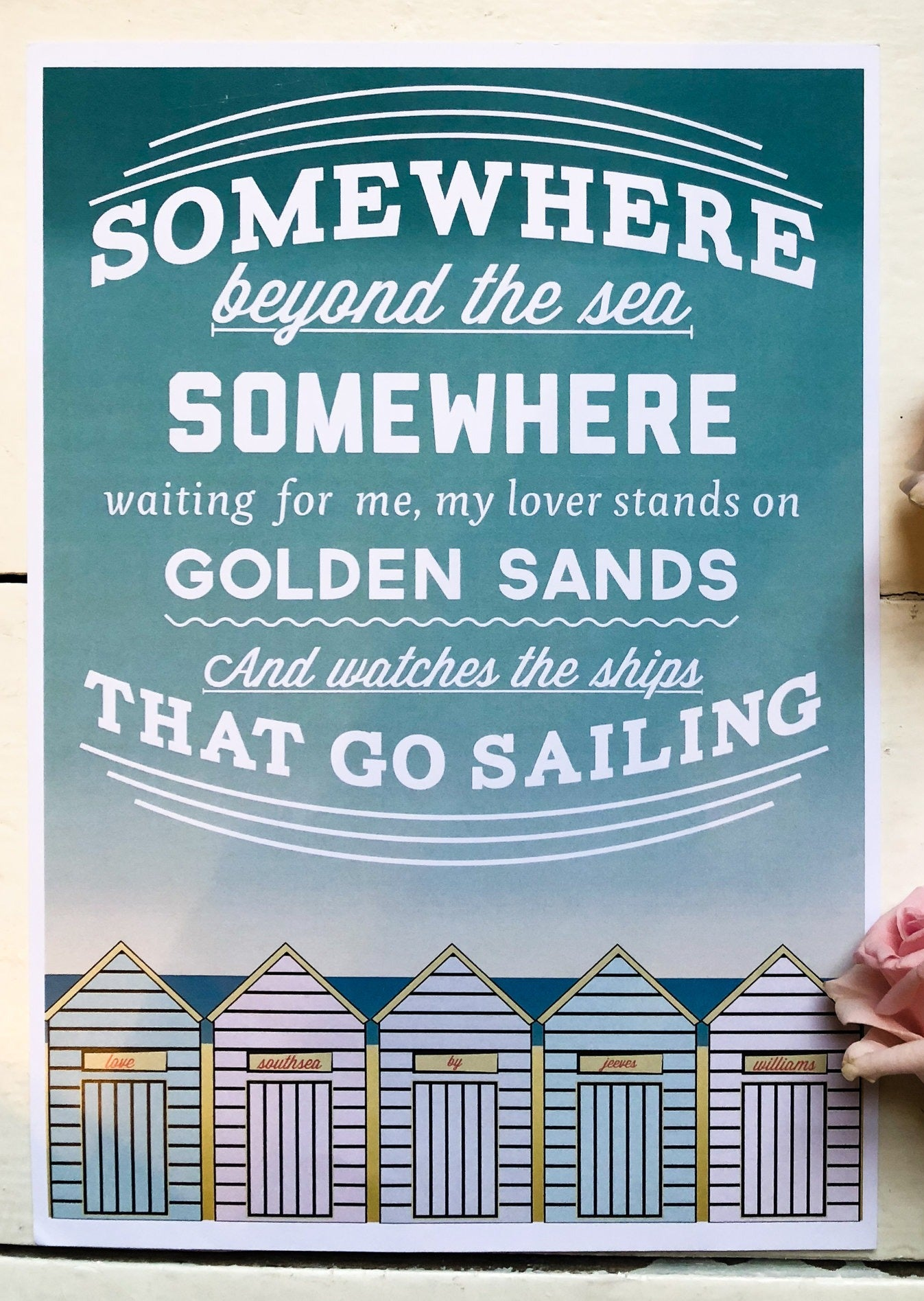 'Somewhere Beyond the Sea' Print