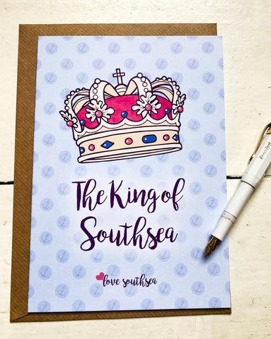 King of Southsea Greetings Card