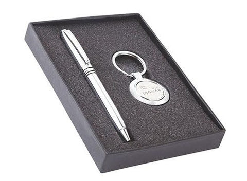 Exclusive pen and key chain set