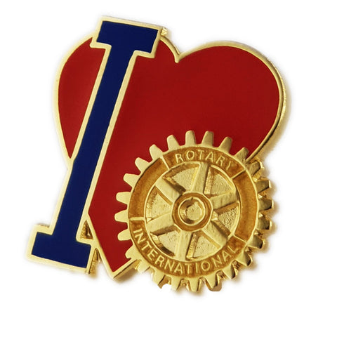 I Love Rotary Pin - Awards California