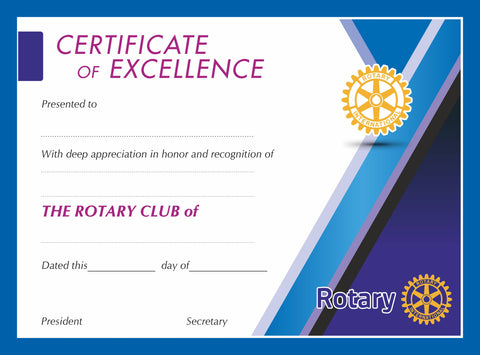 Rotary Certificate of Excellence