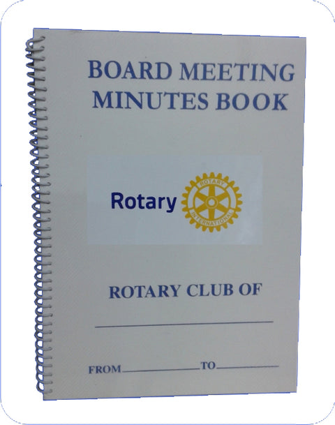 Rotary Board Meeting Minute book