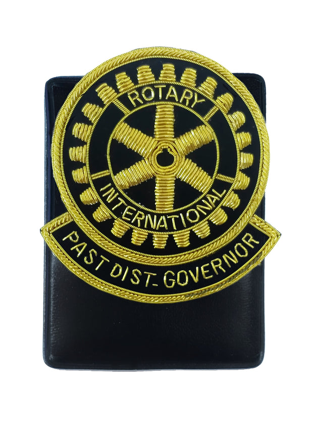 Rotary Embroidery Badge Past District Governor with Magnetic Holder