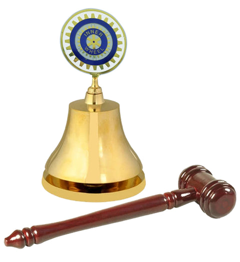 Inner wheel Gong and gavel