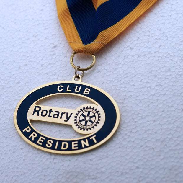 Rotary President Collar (etching)