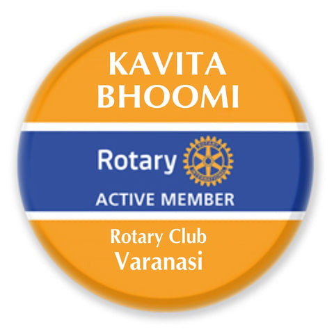 Rotary Traditional Round Name Badge