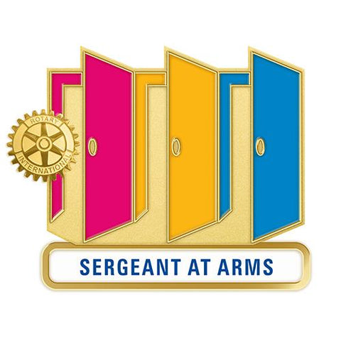 Theme Officer Pin - Sergeant At Arms (Also Available in Magnetic Version) - Awards California