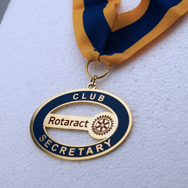 Rotaract Secretary Collar Etching