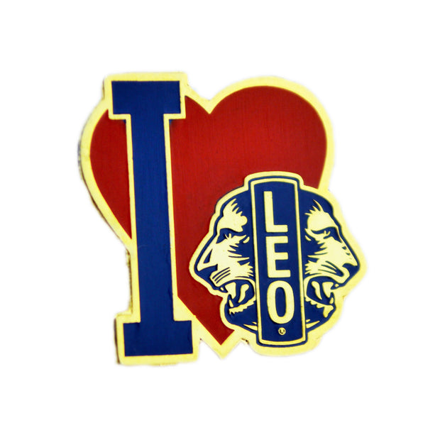 """I Love Leo"" Pin - Awards California"