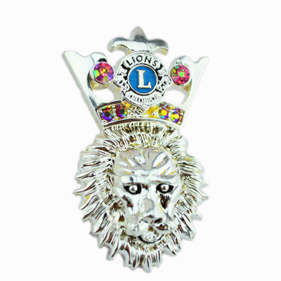 Fancy Lion Face Pin - Awards California