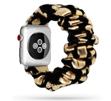 Black Gold Watch Scrunchie