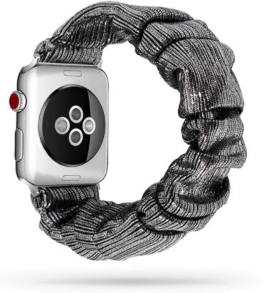 Gunmetal Gray Metallic Watch Scrunchie