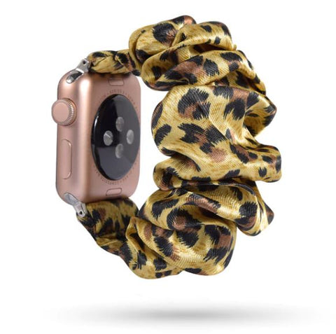 Yellow Leopard Watch Scrunchie