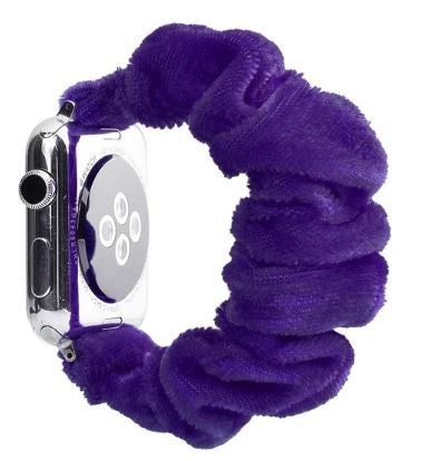 Purple Fuzzy Watch Scrunchie