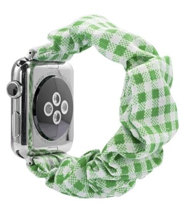 Green Plaid Watch Scrunchie