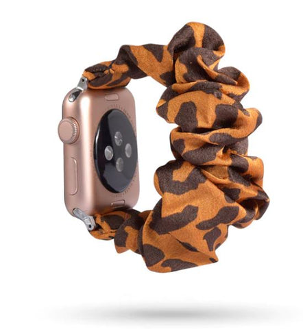 Orange Leopard Watch Scrunchie
