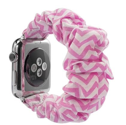 Pink Chevron Watch Scrunchie