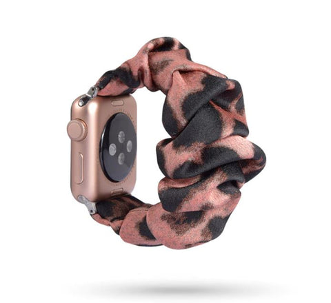 Red Leopard Watch Scrunchie
