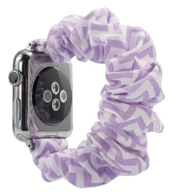Violet Chevron Watch Scrunchie