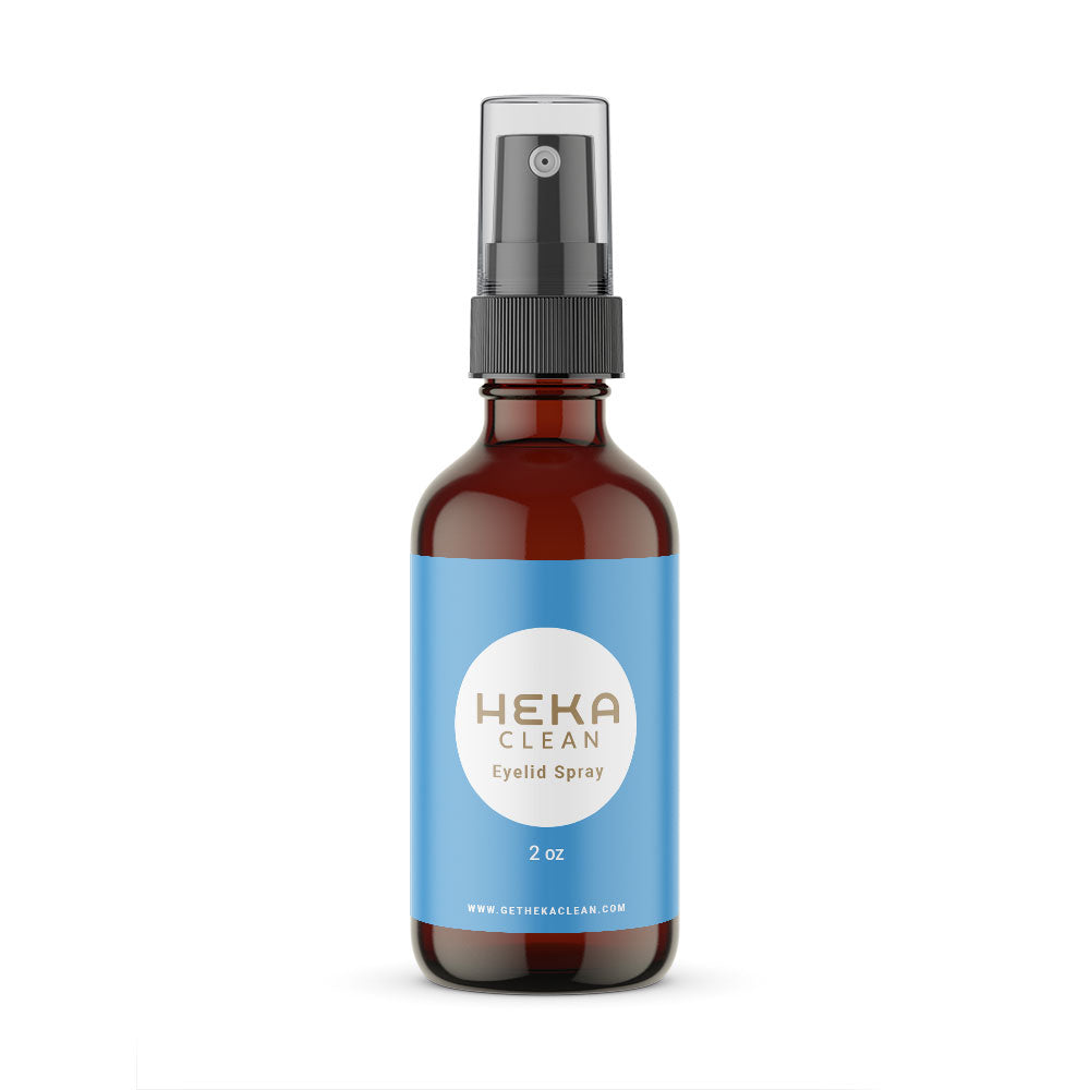 Our HEKA Clean Eyelid Spray is an all natural hypoallergenic solution that keeps your eyelids and lashes clean without any preservatives or chemicals.