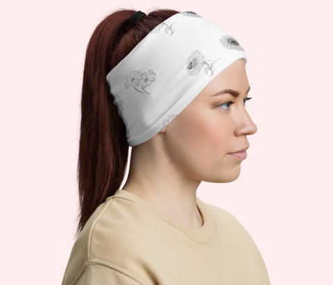 flower head band face mask