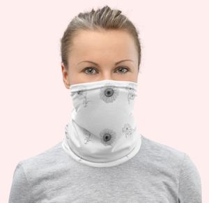 Floral Passion | Flower Sketch Neck Gaiter Sun and Dust Protection Mask