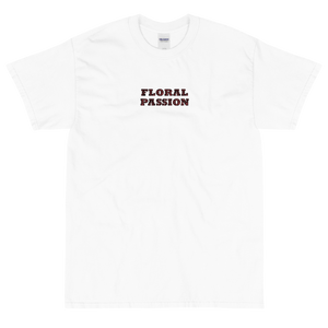 Floral Passion | Pre-Shrunk Floral Lettering Short Sleeve T-Shirt