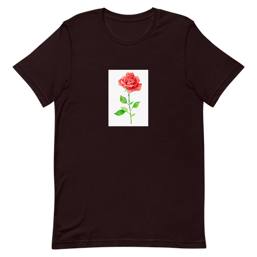 Rose Flower Short-Sleeve Unisex T-Shirt Rose Tee Shirt | Floral Shirt Men Women