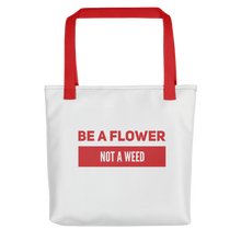 Load image into Gallery viewer, Be a Flower | Floral Passion Flower Picking Harvesting Bag | Floral Shirt Men Women