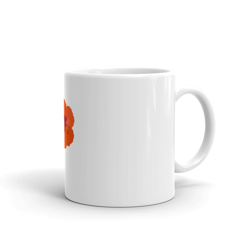 Orange Hibiscus Mug