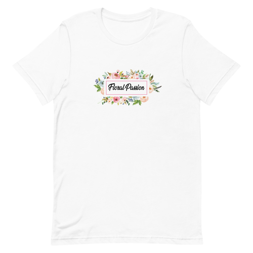 Short-Sleeve Unisex Floral Passion T-Shirt | Floral Shirt Men Women