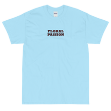 Load image into Gallery viewer, Floral Passion | Pre-Shrunk Floral Lettering Short Sleeve T-Shirt