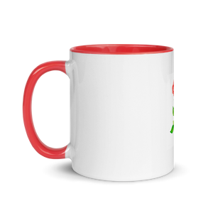 Rose Mug with Red Handle