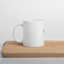 Load image into Gallery viewer, Floral Passion| First Sip of Coffee with Ceramic Floral Ring Coffee Mug