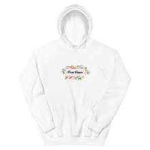 Load image into Gallery viewer, Floral Passion Cold Weather Unisex Hoodie with Circle  Flower Logo Design