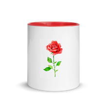 Load image into Gallery viewer, Rose Mug with Red Handle