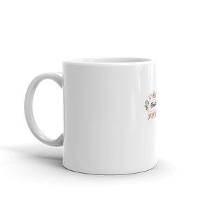 Floral Passion| First Sip of Coffee with Ceramic Floral Ring Coffee Mug