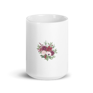 Floral  Passion| A Cup of Joy in Glossy Coffee Mug Bouquet