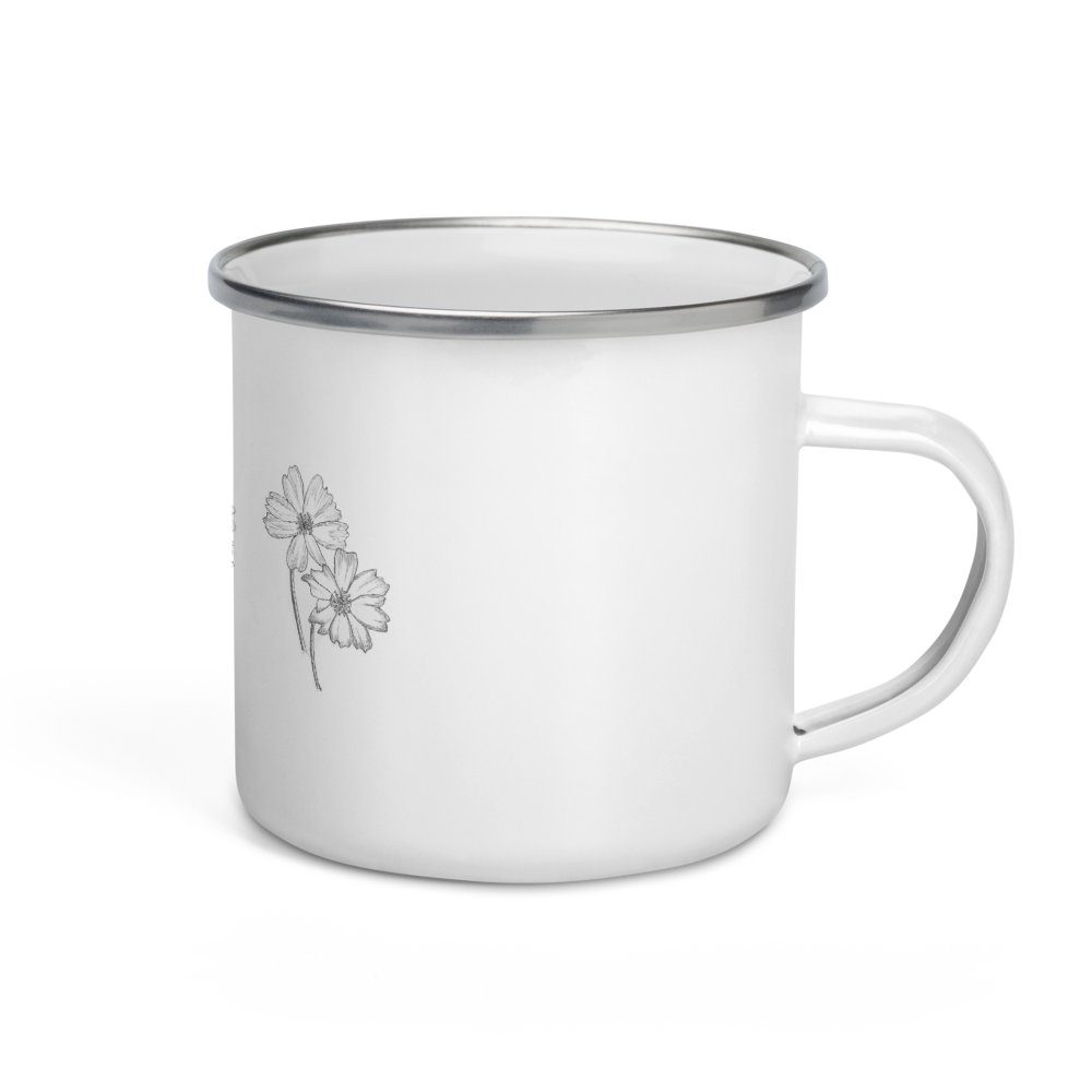 Triple Flower Enamel Mug