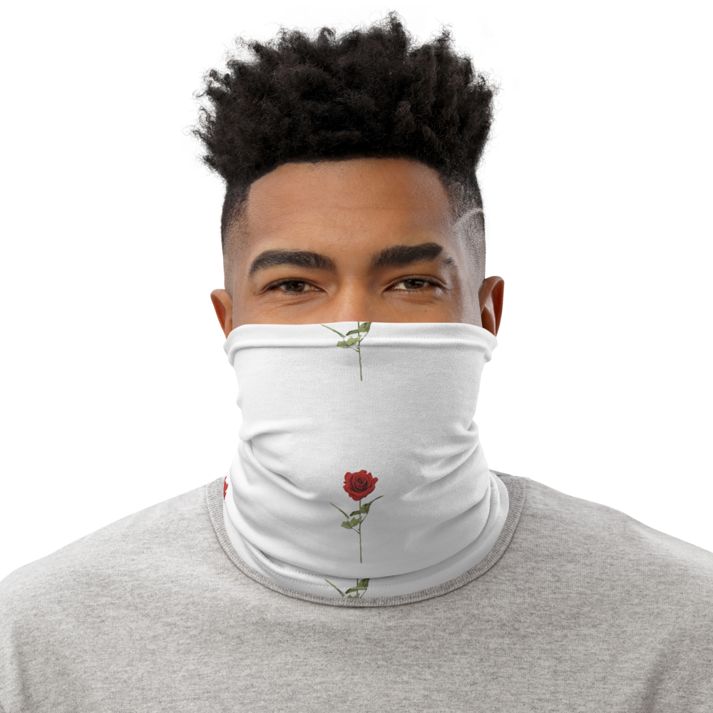 Red Rose Neck Gaiter Protection Mask