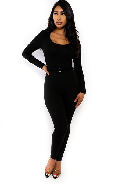 B112 LONG SLEEVE BODYCON JUMPSUIT NARR