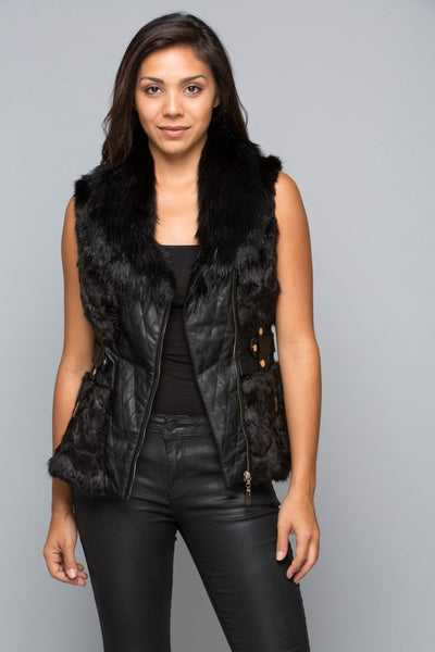 B242 SLIM FIGURE BLACK VEST PLUS NARR
