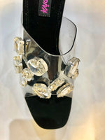 SLP1 Clear top bedazzled shoes Slippers