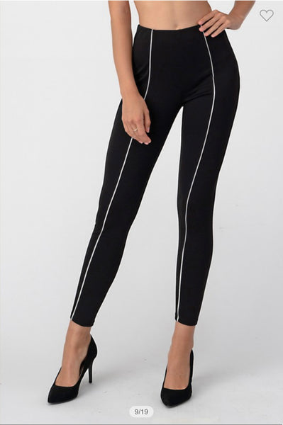 B217 TUXEDO PANTS WITH WHITE STRIPE NARR