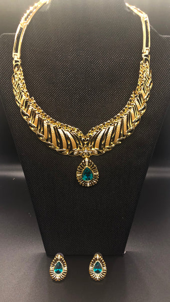NK 073 GREEN EMERALD NECKLACE JWL