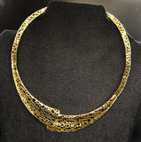 NK 082 GOLDEN ARTISAN NET NECKLACE JWL