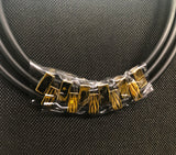 NK 087 GOLD AND BLACK INTERLOCKING CHOKER JWL