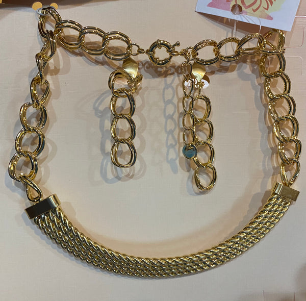 NK101 GOLDEN WIRED NECKLACE JWL