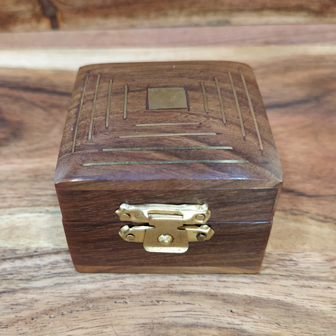 Timber and Brass Ring Maze Box